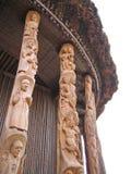 Detail einiger Pfosten Stockbild