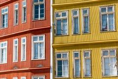 Detail einiger typischer Häuser in Valparaiso Lizenzfreie Stockfotografie