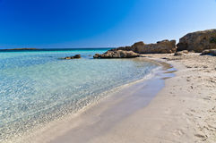 Detail of Elafonisi beach, island of Crete Stock Image