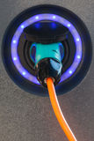 Detail of an electric car charger Stock Photography