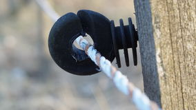Detail of an electric fence Stock Photography