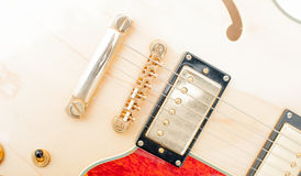 Detail of electric guitar bridge Stock Image