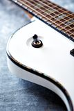Detail of electric guitar Royalty Free Stock Photos