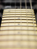 Detail of electric guitar cords and frets Stock Photography