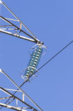 Detail of electric insulators Stock Photography