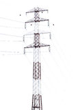 Detail of electricity pylon against Stock Photo