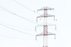 Detail of electricity pylon against Stock Image