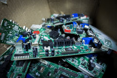 Detail of electronic board Royalty Free Stock Photography