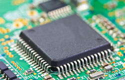 Detail of electronic board Royalty Free Stock Image