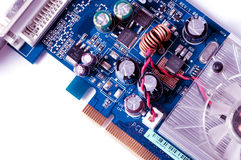 Detail of electronic board ,Macro with extremely shallow dof.  Stock Image