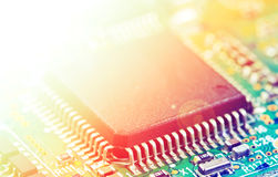Detail of electronic board Stock Photo