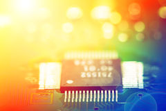 Detail of electronic board Royalty Free Stock Photo