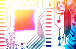 Detail of electronic board Stock Photos