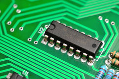 Detail of an electronic printed circuit board Royalty Free Stock Image