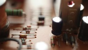 Detail of an electronic printed circuit board stock footage