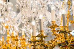 Detail of the elegant chandeliers Royalty Free Stock Photography
