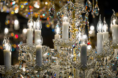 Detail of the elegant chandeliers Royalty Free Stock Images