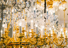 Detail of the elegant chandeliers Royalty Free Stock Image