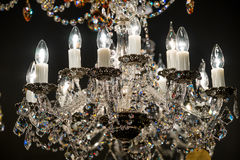 Detail of the elegant chandeliers Royalty Free Stock Photos