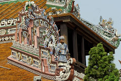 Detail of Emperor's Palace in Hue. Royalty Free Stock Image