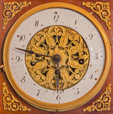 Detail of empire table clock from 19. cent. in palace Saint Anton. Stock Images