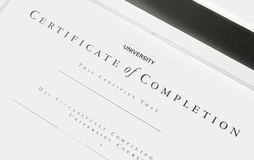 Detail of Empty Certificate  Stock Photography