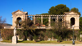 Detail enclosure access to the Royal Palace of Pedralbes Royalty Free Stock Images