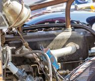 Detail of the engine of a fire engine from 1925, oldtimer Festival royalty free stock photos