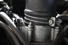 Detail of the engine Intake car.  Royalty Free Stock Images