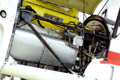 Detail of an engine of an old biplane Stampe Royalty Free Stock Photos