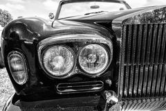 Detail of the English luxury car, Rolls-Royce Corniche Stock Photography