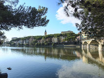 Entella river Royalty Free Stock Photo