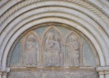 Detail from the entrance of the cathedral Royalty Free Stock Photography