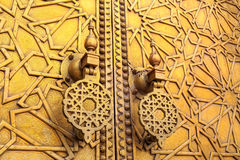 Detail of the entrance door of the Royal palace in Fes Marocco Stock Photography