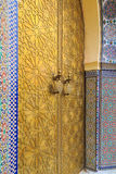 Detail of the entrance door of the Royal palace in Fes Marocco Royalty Free Stock Photography