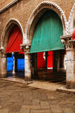 Detail of an entrance of the fish market in Venice Stock Photography
