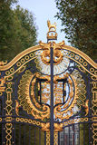 Detail from entrance gate in Buckingham palace. Stock Photography