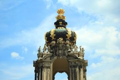 Detail of entrance gate Dresdner Zwinger, Dresden, Germany stock photography