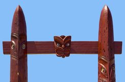 Detail of the Entrance gate to the Waitangi Regional Park. New Zealand royalty free stock photos