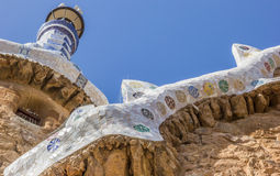 Detail of the entrance house in Park Guell Royalty Free Stock Photography