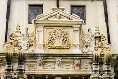 Detail of an entrance of Peles Castle Stock Photography