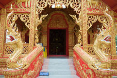 Detail of entrance at Phrathat Lampang Luang Royalty Free Stock Photo