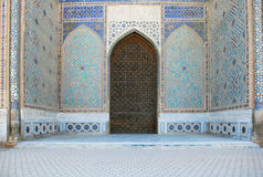 Detail of the entrance portal. Bibi Khanum Mosque royalty free stock image