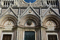 Detail of the entrance to the Duomo of Siena Royalty Free Stock Photos