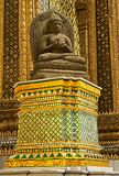Detail of the entrance to the Phra Mondop the library, at Wat stock photography