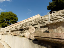 Detail of Epidaurus ancient Theater  in greece Royalty Free Stock Image