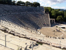 Detail of Epidaurus ancient Theater  in greece Stock Photography