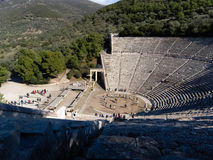 Detail of Epidaurus ancient Theater in greece Stock Photos