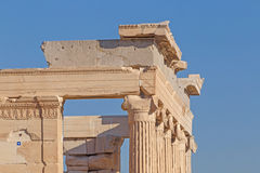 Detail of Erechtheion temple on Acropolis Royalty Free Stock Images
