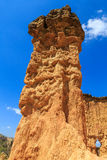 Detail of an eroded pilar of sandstone Royalty Free Stock Images